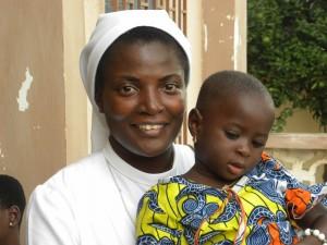 Infermiera con bimbo Amadhomé